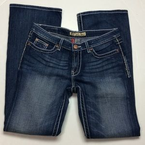 BKE Kate Stretch Bootcut Thick Stitch Jeans Sz 32
